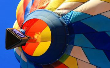 Balloon Flight over Mountains of Guadarrama