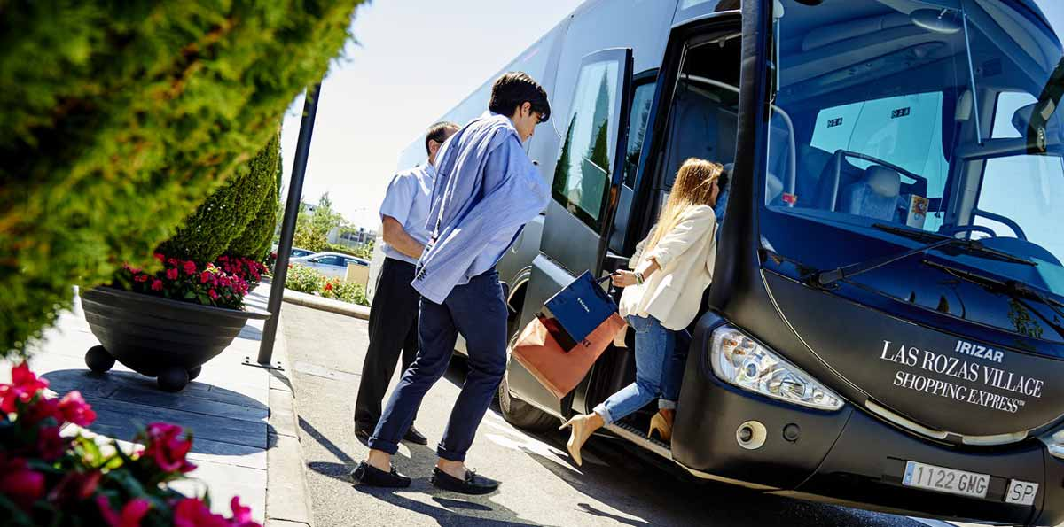 Las Rozas Village shopping tour with bus from Madrid