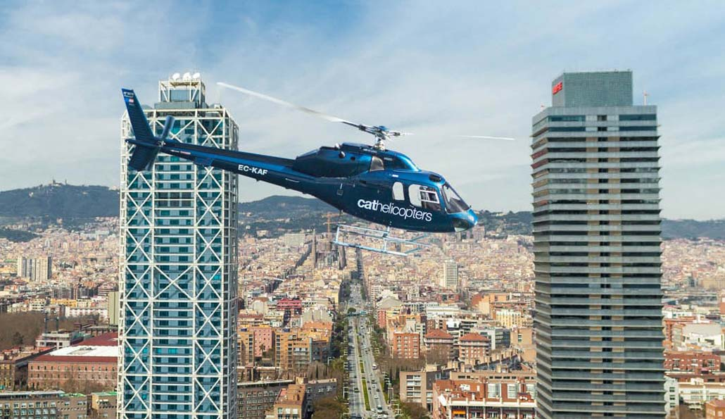 Barcelona City and Coast Helicopter Tour