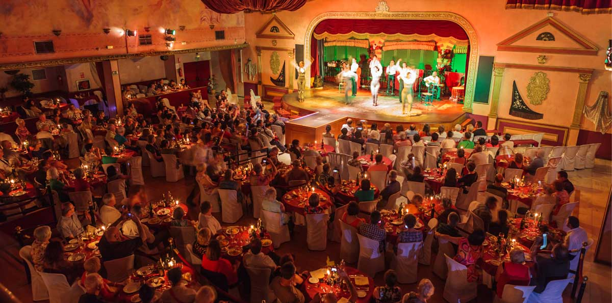 Seville: Sightseeing Night Tour by bus & Flamenco Show