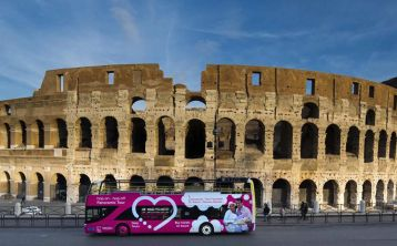 Rome City Tour Hop On Hop Off bus