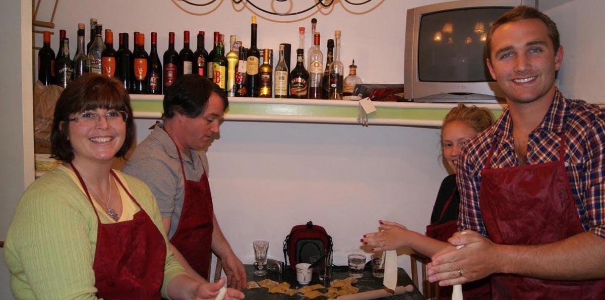 Clase de Cocina en la campiña Romana