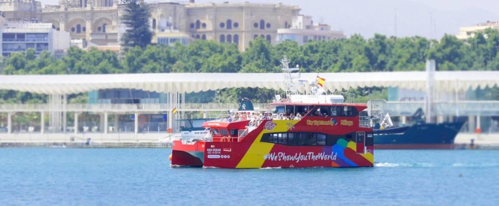 Barco turístico de Málaga