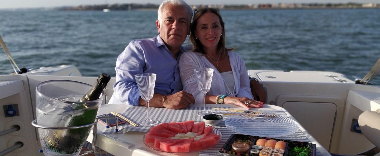 Paseo romántico en barco por Cádiz