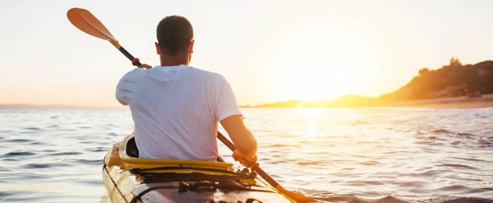 Puesta de sol en kayak por Sancti Petri