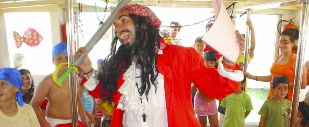 Fiesta infantil pirata en barco Cádiz