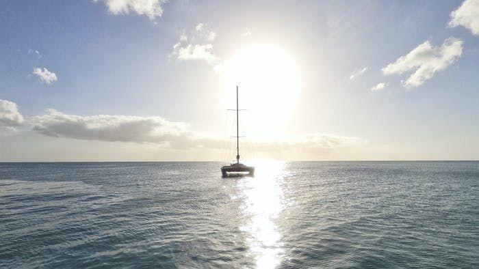 Baño en catamarán