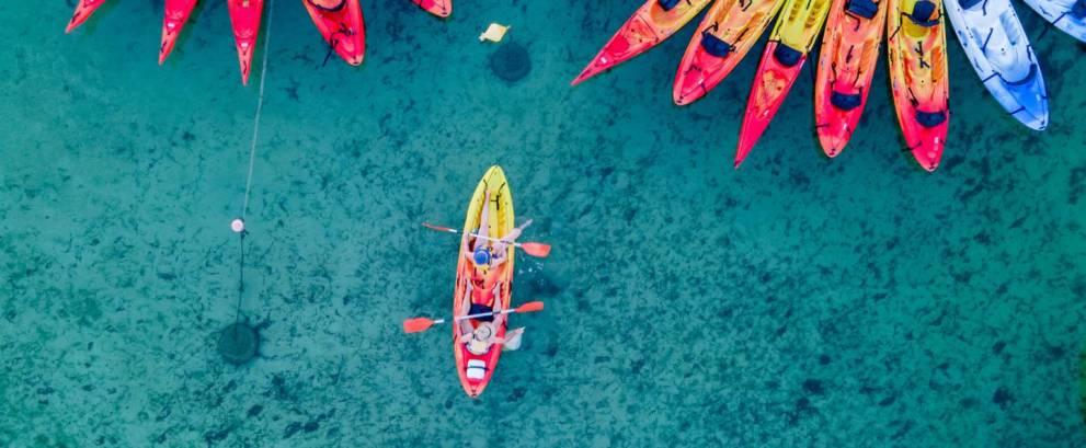 Excursión en Kayak por Fornells en Menorca