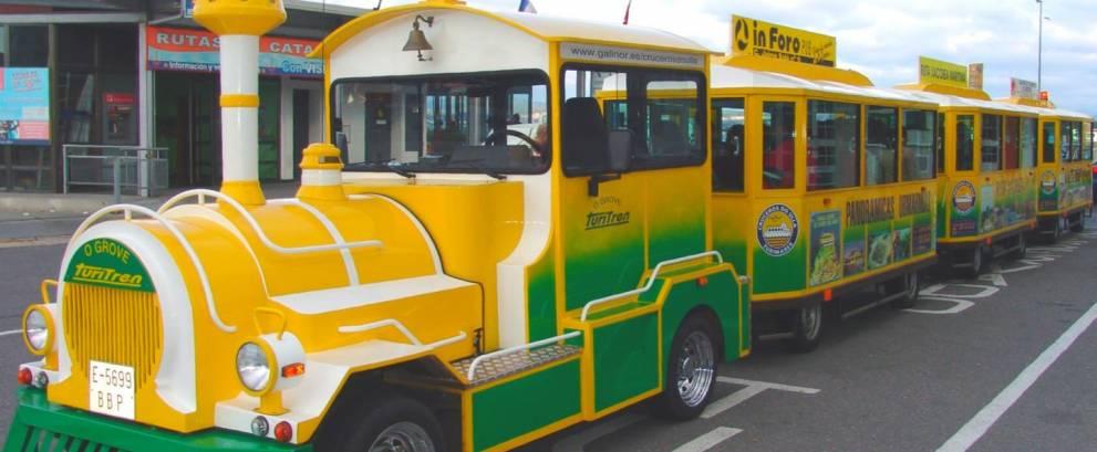 Tren turístico en O Grove
