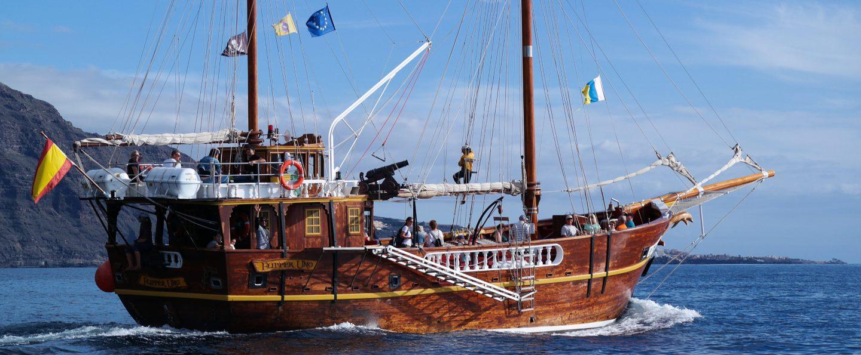 Tour barco pirata en Los Gigantes de Tenerife