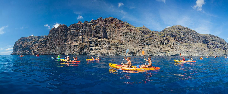 Kayak en los Gigantes de Tenerife