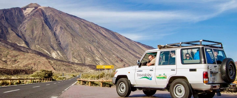 Jeep 4x4 por el Teide